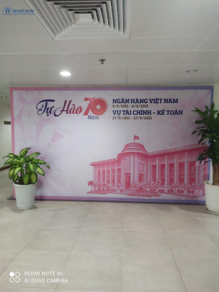 Chuyển văn phòng ngân hàng của Vận chuyển Tâm Bình